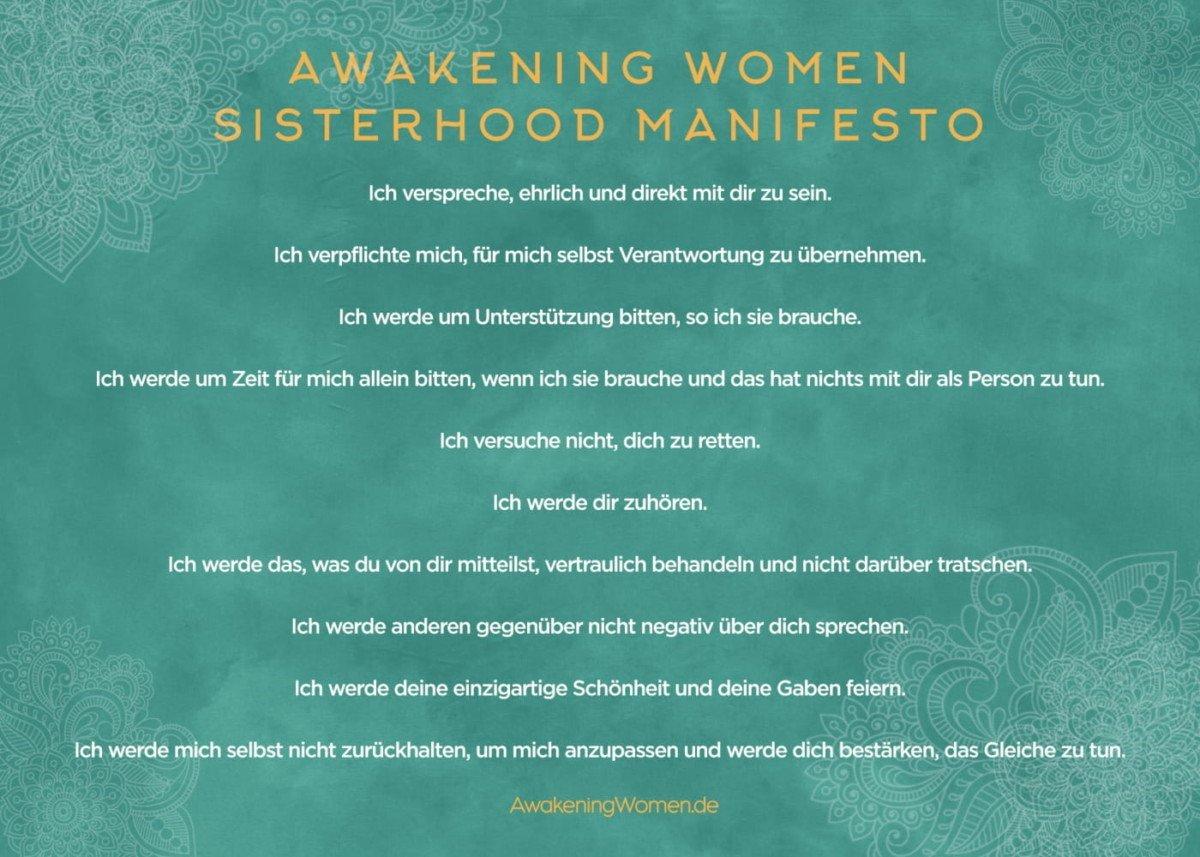 Frauentempel awakening women sisterhood manifesto